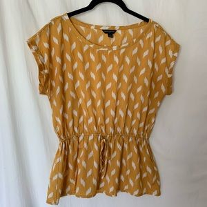 Adorable peplum top, perfect for fall